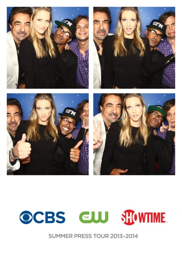 Criminal Minds The Criminal Minds cast in the TCA photo booth.