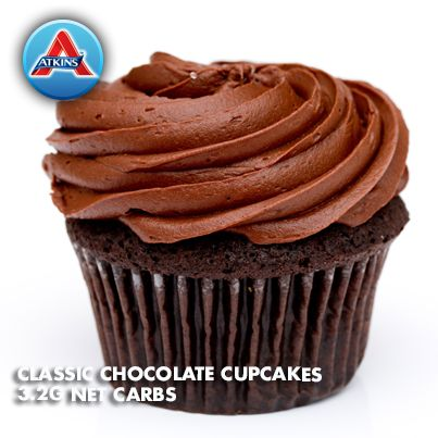 With Valentine's Day coming up, we'll be posting low-carb cupcake recipes all week! This first one is for all the chocolate lovers out there. (All Phases)