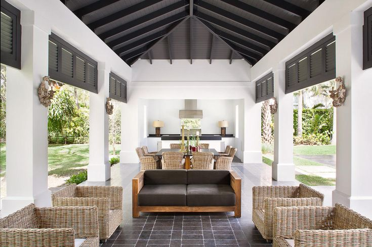 Pool Side Cabana / Outdoor Kitchen Idea - Transitional Florida Home