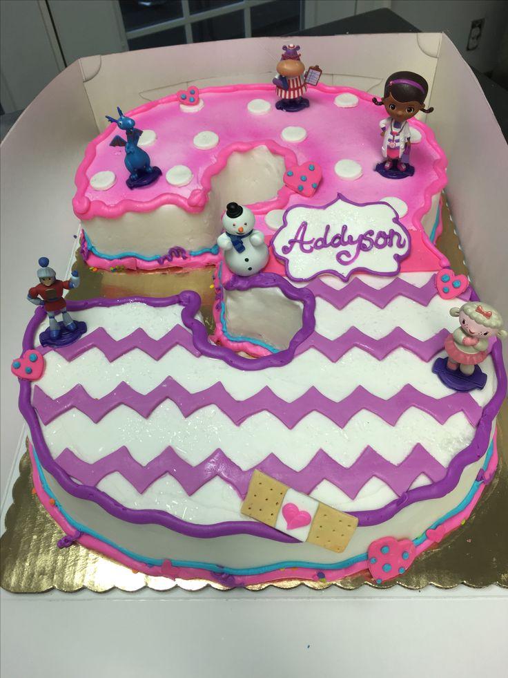 Doc Mcstuffins Cake Shaped Number Cakes Pinterest