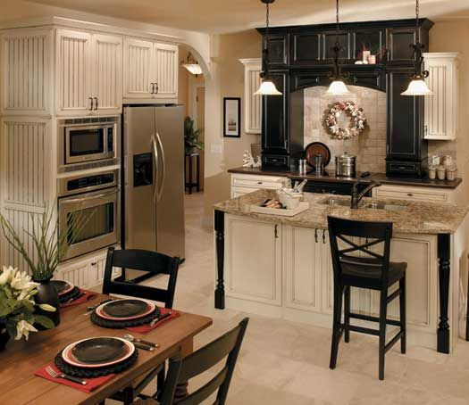 Black And Cream Kitchen Accessories: Heritage Door Style In Maple Finished In Ivory Cream With