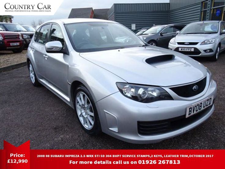 £10,990 | 2008 08 SUBARU IMPREZA 2.5 WRX STI 5D 304 BHP7 SERVICE STAMPS,2 KEYS, LEATHER TRIM,OCTOBER 2017   For more details call us on 01926 267813.