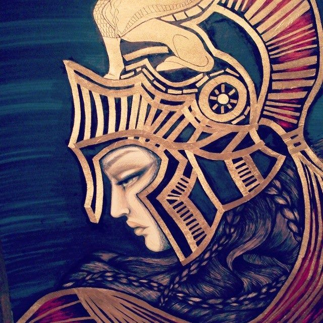 Goddess Athena // my new BriliantGr illustration https://www.facebook.com/Briliantpage