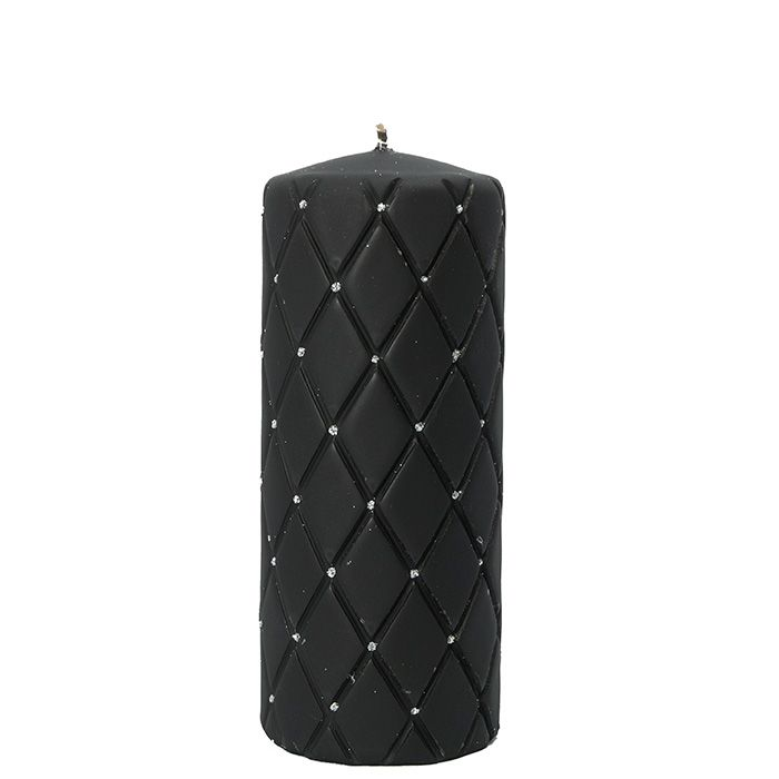 Świeca FLORENCJA świeca w kolorze czarnym walec duży 7/18  https://korleone.pl/pl/p/Swieca-FLORENCJA-walec-czarny-718/154