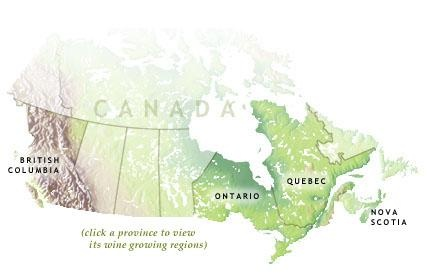 Canada: Grapes for these wines are grown primarily in two provinces, Ontario and British Columbia, where 98 percent of the volume of premium wine is produced. Québec and Nova Scotia have each developed a small, but ardent, grape wine sector. With the exception of an enthusiast in Prince Edward Island who has a vineyard and winery, there is little grape growing on a commercial scale in any other province in Canada.