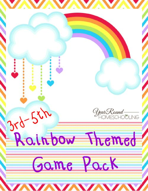 Free Rainbow Game Pack (3rd-5th) - http://www.yearroundhomeschooling.com/free-rainbow-game-pack-3rd-5th/ #Rainbow #Game #Homeschooling