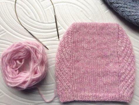 Вязание простой шапки спицами
