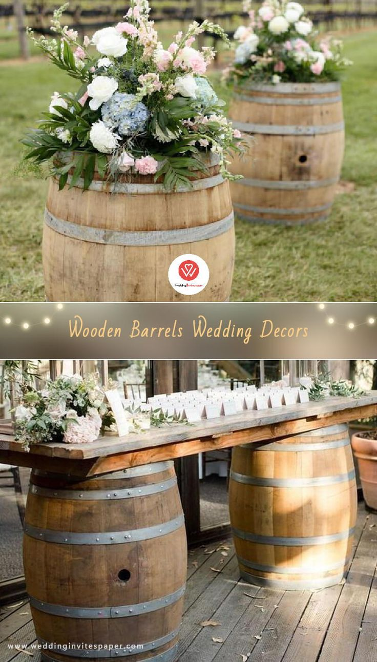 27 Rustic Wedding Decorations You Must Have A Look–wooden barrel