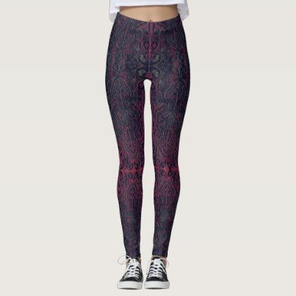Romantic Weathered Gothic pattern with Crosses Leggings - romantic gifts ideas love beautiful