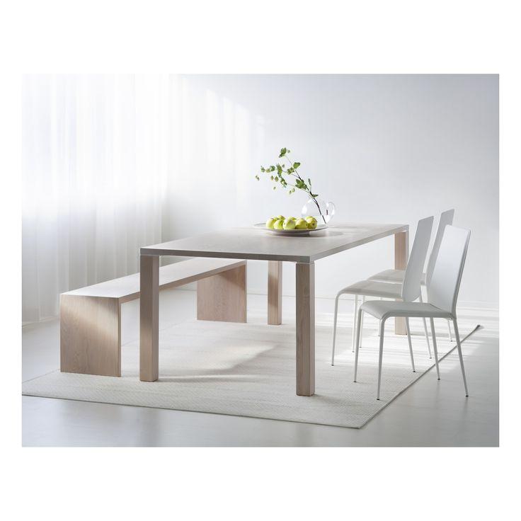 SCALA, Pöytä 200x100 cm saarni valkolakattu