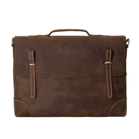 La bolsa de mensajero ROCKCOW caballo loco portátil de cuero, cartera del negocio, Hombres Bolsa 0341