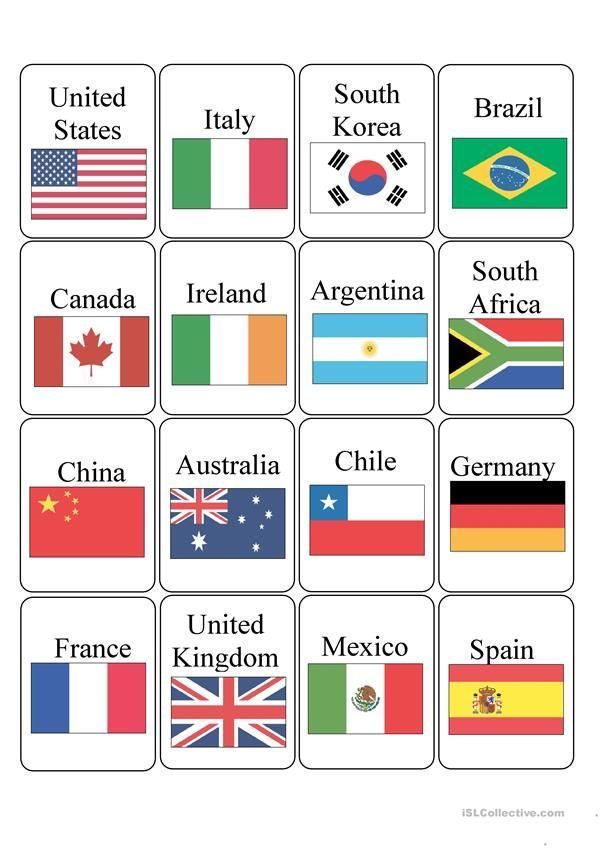 Countries World Flags With Names Flags Of The World World Flags Printable