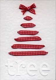 DIY Ribbon Christmas Tree card