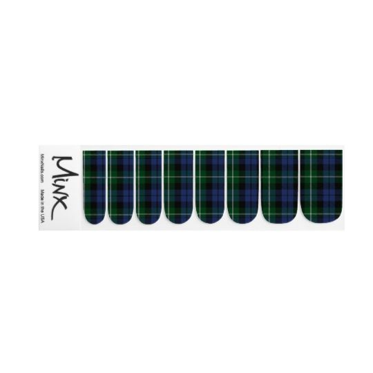 Classic Clan Campbell Tartan Plaid Minx Nails Minx Nail Art