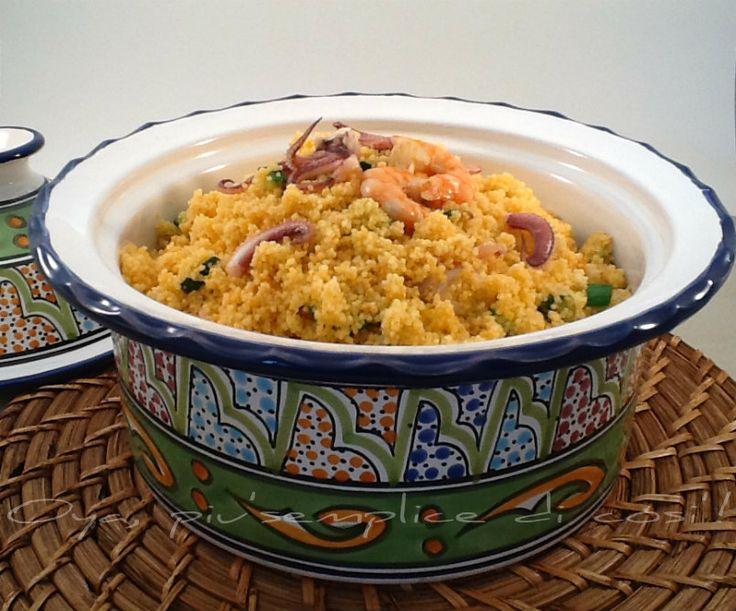 Cous cous gamberetti calamari e zucchine, ricetta | Oya