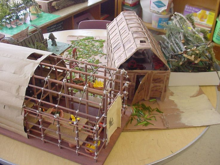 how to make a longhouse for school project - Google Search