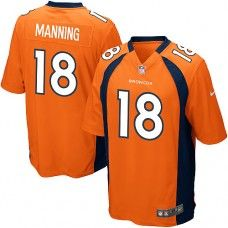 Nike Elite Youth  Denver Broncos #18 Peyton Manning Team Color Orange NFL Jersey