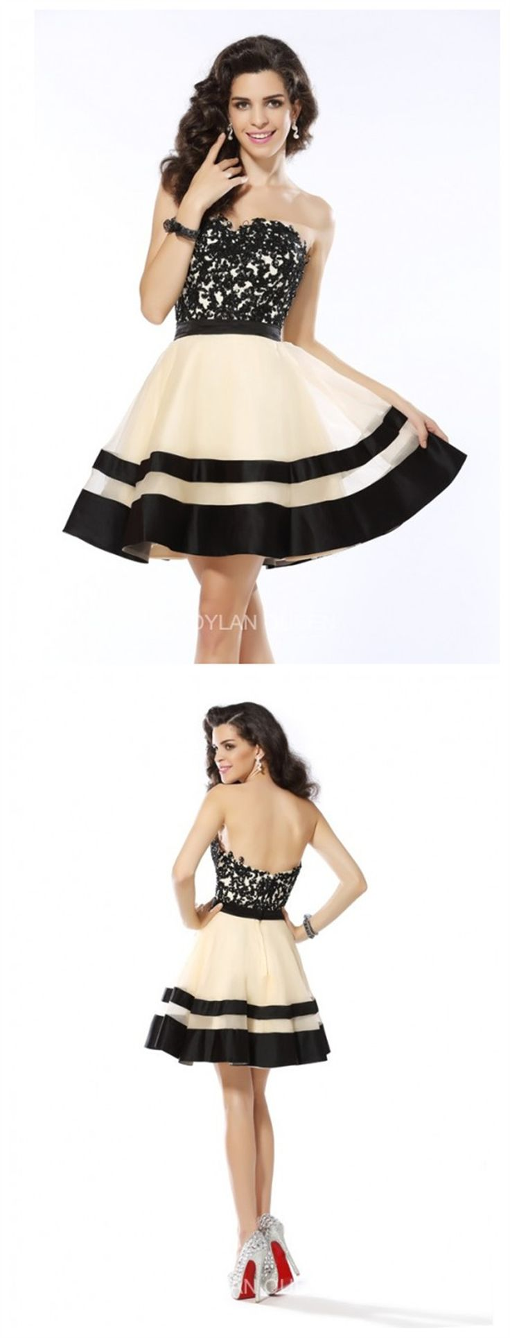 A-line & strapless dress for ball gown #dylanqueen