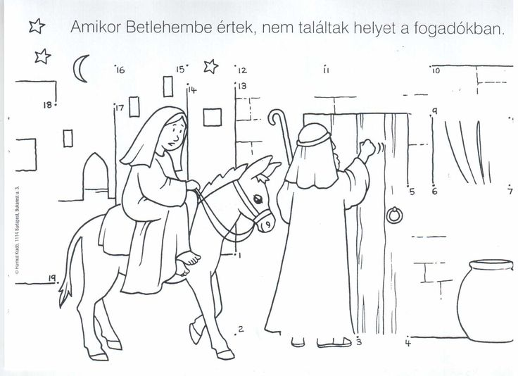 27 best Bijbel Jozef en Maria naar Bethlehem images on Pinterest - new coloring pages for christmas story