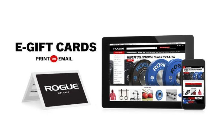 Rogue Gift Certificates Custom Strength Training Crossfit Gifts Rogue Fitness Gifts Egift Card Company Gifts