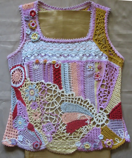 freeform crochet top; too bad this is a little too far fetched for a little boy...