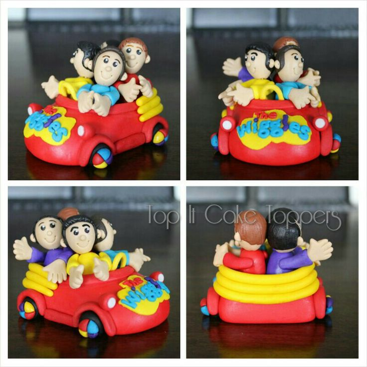 The Wiggles Big Red Car cake topper. Made with homemade marshmallow fondant