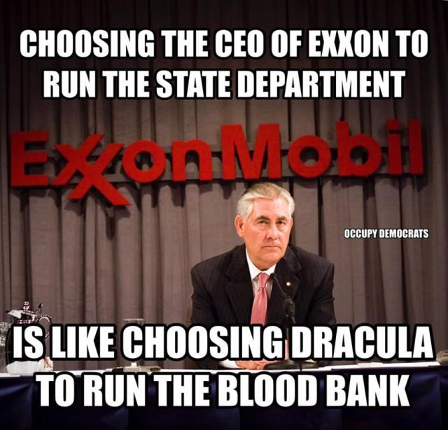 Funniest Trump Transition Memes: Exxon CEO at the State Department