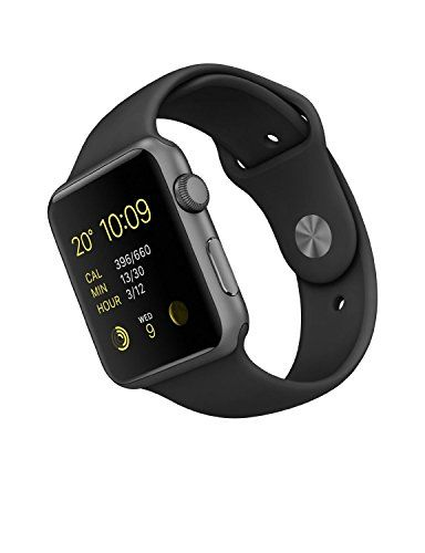Apple 42 mm Sports Watch with Aluminum Case – Space Grey/Black – (1st Generation)