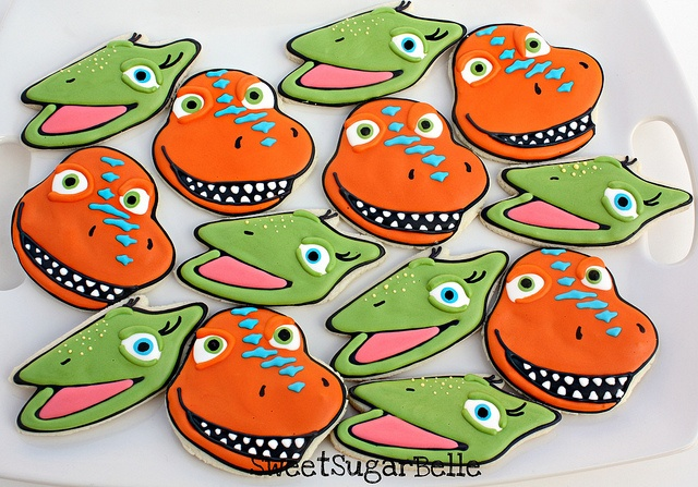 Dinosaur Train cookies-Want to try and make these....