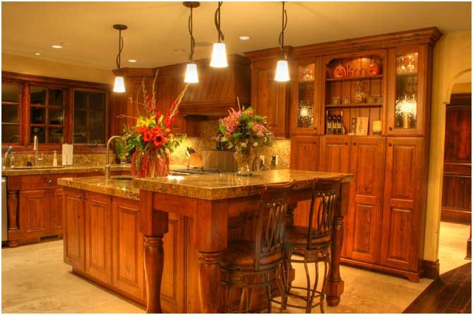 traditional kitchen.
