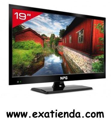 """Ya disponible Televisor NPG led 19"""" nl 1912hhb graba USB    (por sólo 151.95 € IVA incluído):   LED TV slim npg 19"""" nl-1912hhb TDT HD HDMI USB grabador av modo hotel  especificaciones:  televisor LED 19"""" sintonizador dvb-t sd (mpeg-2) y HD sintonizador analogico pal y secam resolucion: 1366x768 relación de aspecto 16:9 16.7 millones de colores brillo: 250 cd / m2 alta relación de contraste filtro digital 3D combo función dvr función timeshift por USB guia de programac"""