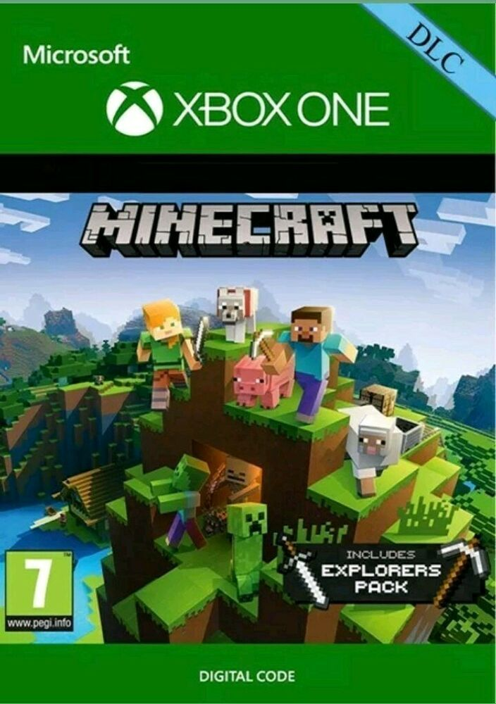 Minecraft: Explorers Pack DLC Xbox One Ebay message delivery