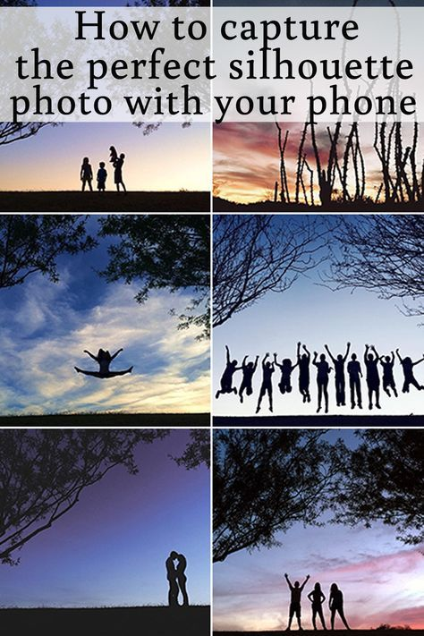 Best tips for how to get a perfect silhouette photo using a phone camera!!  And there's a video showing exactly how to do it!