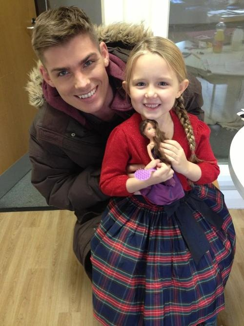 ella & kieron. Ella is an awesome little actor, I love watching seen with her telling step dad ste the way it's done!!!
