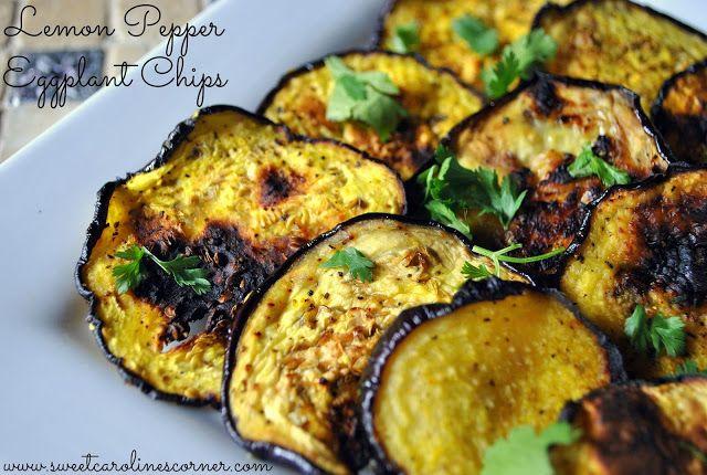 Sweet Caroline's Corner: Lemon Pepper Eggplant Chips (Chips de Berinjela)
