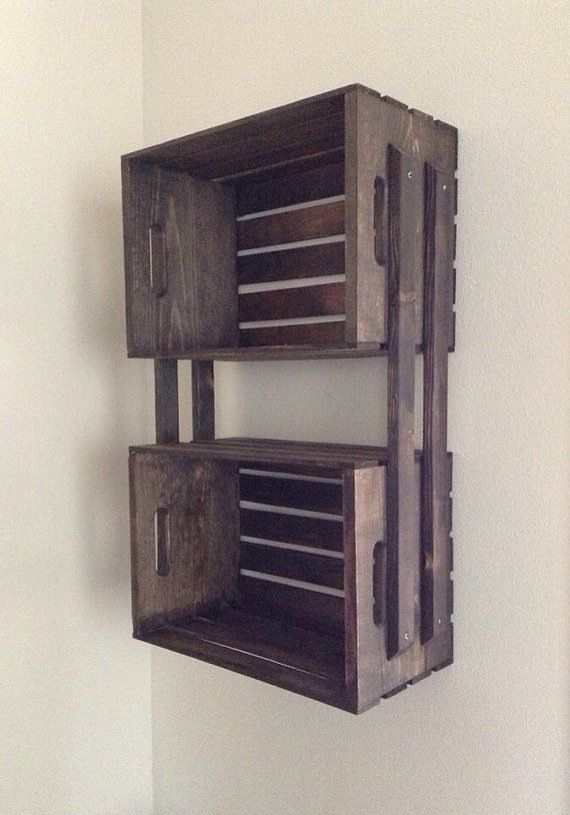Possible pallet idea! Use these shelves for laundry room. Love it!