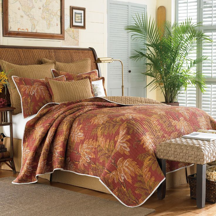 Tommy Bahama Orange Cay Quilt Is A Darker Color Than I