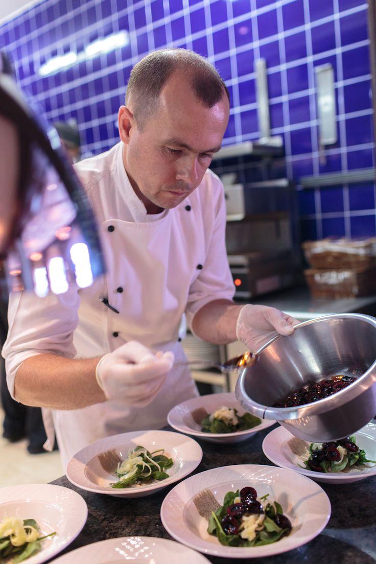 Chef Vladimir at work....