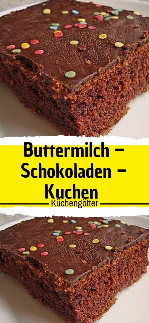 Buttermilch – Schokoladenkuchen (einfach, schnell und lecker, sehr lecker!)    – Süsses
