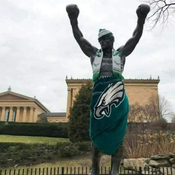 The Philadelphia Eagles, The SuperBowl and Rocky Balboa! The Perfect Triangle of Entertainment! #Eagles #SuperBowl2018 #superbowl #RockyBalboa #Party #Eagles
