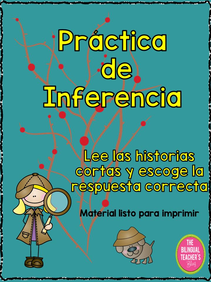 "The ""Practica de Inferencia"" is a great product to practice to infer in the classroom. 40 short paragraphs with multiple choose for students to think, analyze and choose the answer. The Answer Key is also included"