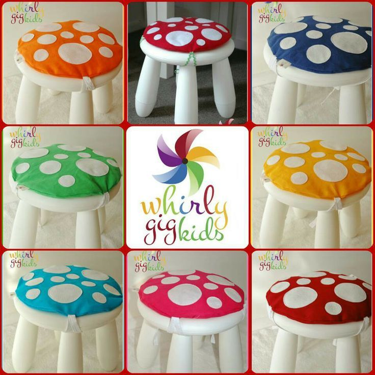 Sweet little mushroom stools for a woodlands classroom theme. Can someone PLEASE make these for me?!                                                                                                                                                      More