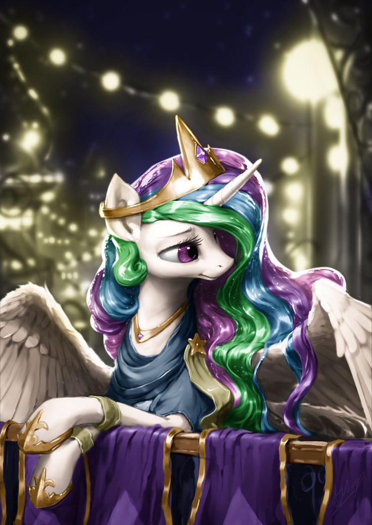 #1305913 - artist:assasinmonkey, clothes, colored, edit, lidded eyes, princess celestia, safe, solo, spread wings - Derpibooru - My Little Pony: Friendship is Magic Imageboard
