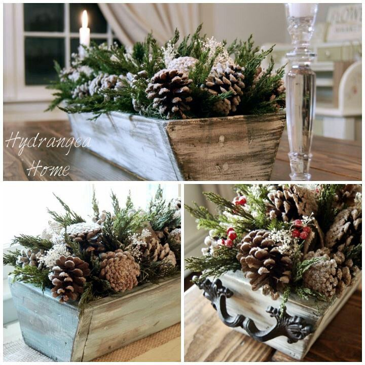@Sandra Overton Or...Daddy can make us a wooden box like this and we can add cute decorative handles on either side and put in the decorations like this...