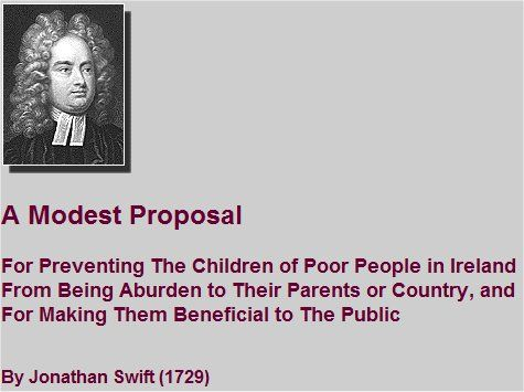 Rhetorical Analysis of a Modest Proposal by Jonathan Swift