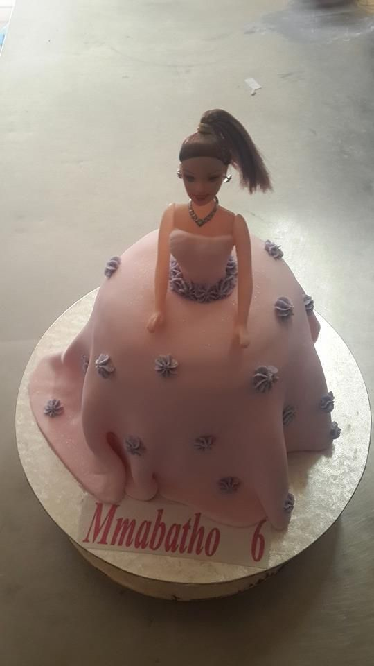 Barbie inspired birthday cake supplied by Altefyn Cakes