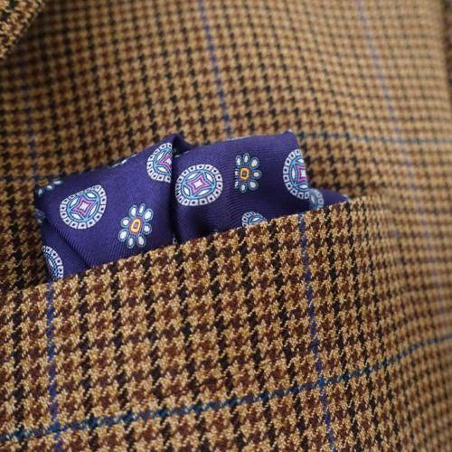 #pocketsquare #bergandberg #silk #blue
