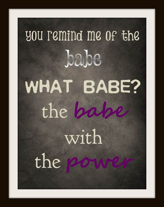 Labyrinth Typography Nursery Art - Power of the Babe - 8x10 Inch Poster Print - Geek-a-bye Baby - Fantasy Geek -- David Bowie