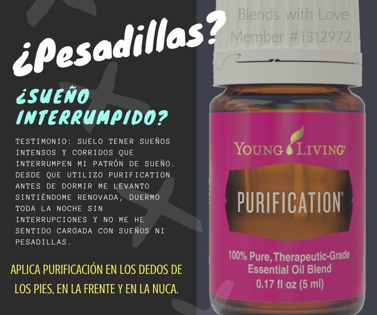 Young living- aceite esencial de Purificación- ayuda a dormir mejor- elimina pesadillas y sueño interrumpido