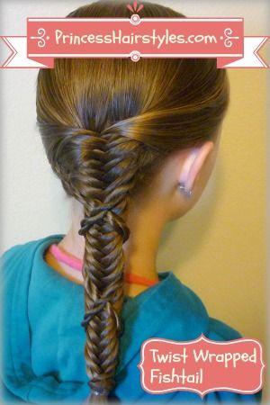 fishbone braid wrapped with twist braids tutorial